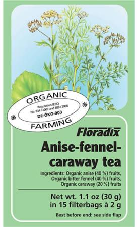 FLORADIX ORG ANISE FENNEL CARAWAY TEA 15TB